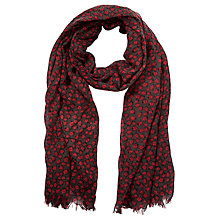 Buy John Lewis Weekend Ladybird Print Wool Scarf, Red Online at johnlewis.com