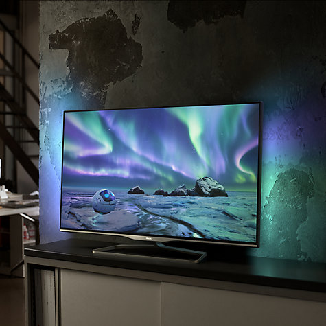 "Buy Philips 42PFL5008T LED 1080p 3D Smart TV, 42"" with Ambilight, Freeview HD and 2x 3D Glasses Online at johnlewis.com"