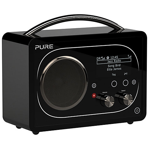 Buy Pure Evoke F4 DAB/FM/Internet Radio with Bluetooth, Black Online at johnlewis.com