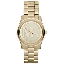Buy Michael Kors MK5786 Women's Runway Logo Dial Watch, Gold Online at johnlewis.com