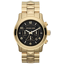 Buy Michael Kors MK5795 Women's Pyramid Runway Chronograph Watch, Gold Online at johnlewis.com