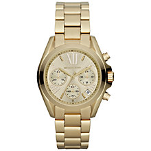 Buy Michael Kors MK5798 Women's Mini Bradshaw Stainless Steel Bracelet Watch, Gold Online at johnlewis.com
