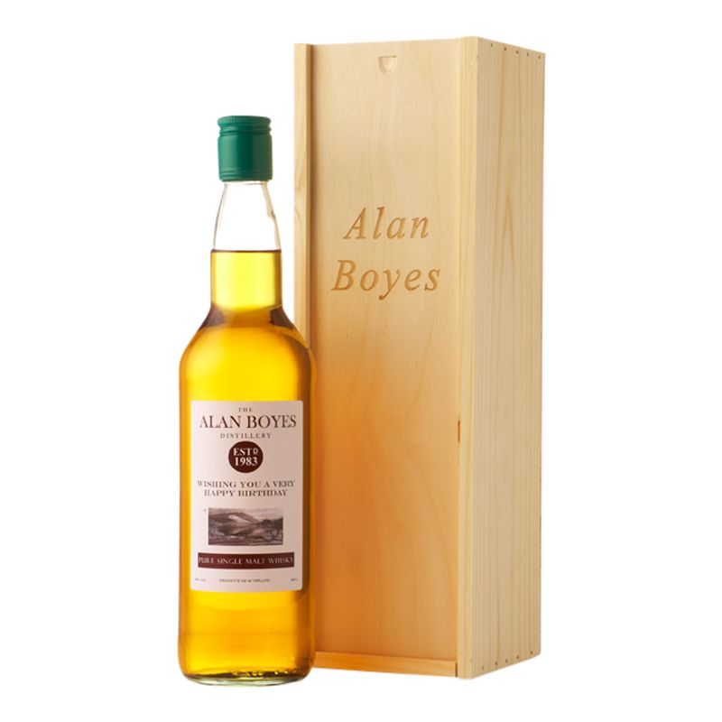 Intervino Personalised Malt Whisky Gift Set, 75cl