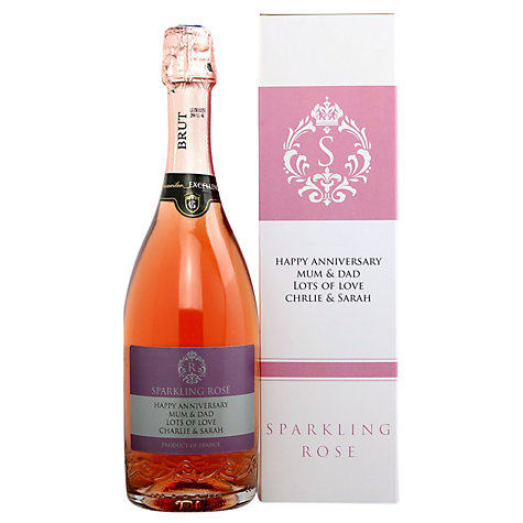 Buy Personalised Sparkling Rose Gift Set, 75cl Online at johnlewis.com