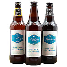 Buy Personalised Beer Trio Gift Set Online at johnlewis.com