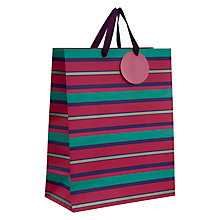 Buy John Lewis Purple Stripe Medium Gift Bag Online at johnlewis.com