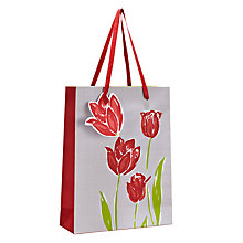 Buy Indigo Bloom Linen Paper Tulip Gift Bag, Multi, Small Online at johnlewis.com
