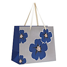 Buy Indigo Bloom Linen Paper Gift Bag, Multi, Large Online at johnlewis.com