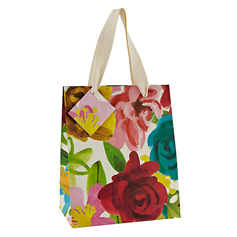 Buy Caroline Gardner Bright Floral Gift Bag, Small Online at johnlewis.com