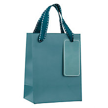 Buy John Lewis Gift Bag, Mini, Teal Online at johnlewis.com