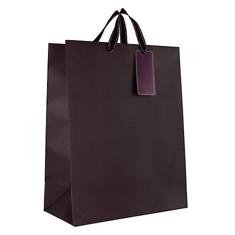 Buy John Lewis Stripe Gift Bag, Purple, Medium Online at johnlewis.com