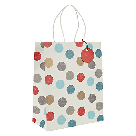 Buy John Lewis Spot Gift Bag, Medium Online at johnlewis.com