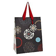 Buy John Lewis Snowflake Spot Gift Bag, Small, Carbon Online at johnlewis.com