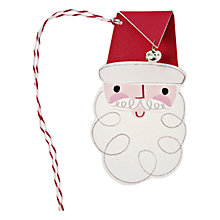 Buy Meri Meri Santa Head Gift Tag Online at johnlewis.com