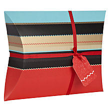 Buy John Lewis Winter Stripe Pillow Gift Box, Large Online at johnlewis.com