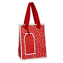 Buy John Lewis Textured Stripe Festive Gift Bag, Mini, Red Online at johnlewis.com