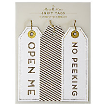 Buy Meri Meri All Wrapped Up Open Me Gift Tags, Pack of 6 Online at johnlewis.com