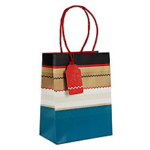 Buy John Lewis Winter Stripe Gift Bag, Small Online at johnlewis.com