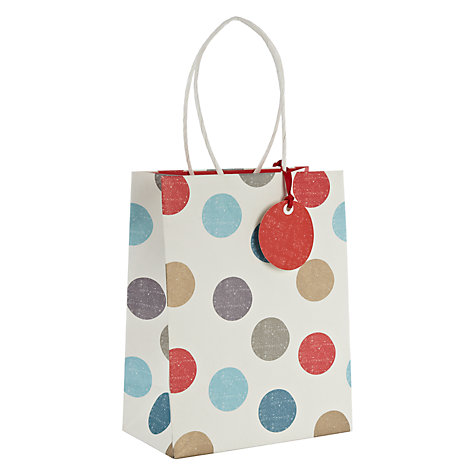 Buy John Lewis Winter Spot Gift Bag, Small Online at johnlewis.com