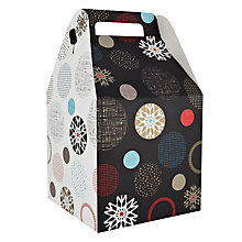 Buy John Lewis Snowflake Spot Pop Up Gift Bag, Large Online at johnlewis.com