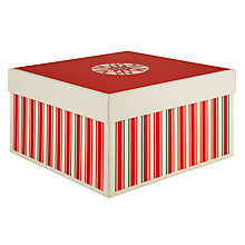 Buy John Lewis Festive Gift Box, Medium, Red Online at johnlewis.com