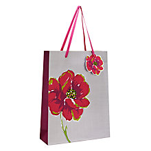 Buy Indigo Bloom Linen Paper Gift Bag, Multi, Medium Online at johnlewis.com