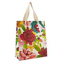 Buy Caroline Gardner Bright Floral Gift Bag, Medium Online at johnlewis.com