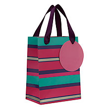 Buy John Lewis Purple Stripe Mini Gift Bag Online at johnlewis.com