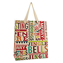 Buy Caroline Gardner Christmas Text Gift Bag, Large Online at johnlewis.com
