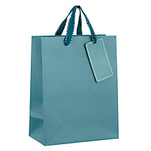 Buy John Lewis Gift Bag, Small, Teal Online at johnlewis.com