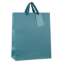 Buy John Lewis Gift Bag, Medium, Teal Online at johnlewis.com