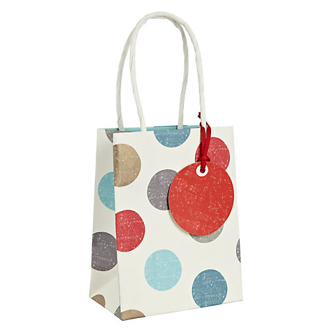 Buy John Lewis Winter Spot Gift Bag, Mini Online at johnlewis.com