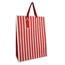 Buy John Lewis Textured Stripe Festive Gift Bag, Large, Red Online at johnlewis.com