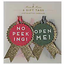 Buy Meri Meri All Wrapped Up Rosettes Gift Tags, Pack of 6 Online at johnlewis.com