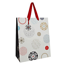 Buy John Lewis Snowflake Spot Gift Bag, Medium Online at johnlewis.com