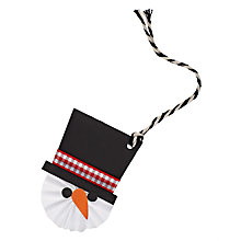 Buy Meri Meri Snowman Gift Tag Online at johnlewis.com