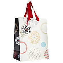 Buy John Lewis Snowflake Spot Gift Bag, Small Online at johnlewis.com