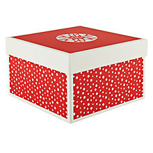 Buy John Lewis Festive Gift Box, Small, Red Online at johnlewis.com