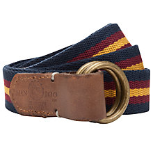 Buy Franklin & Marshall Stripe Belt, Navy Online at johnlewis.com
