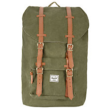 Buy Herschel Little America Canvas Backpack Online at johnlewis.com