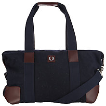 Buy Fred Perry Flecked Wool Holdall, Navy Online at johnlewis.com