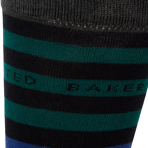 Buy Ted Baker Panbak Pattern Socks, Pack of 3, One Size, Charcoal/Multi Online at johnlewis.com