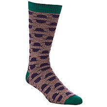 Buy Ted Baker 3-Pack Gift Bowler and Moustache Socks, Multi Online at johnlewis.com