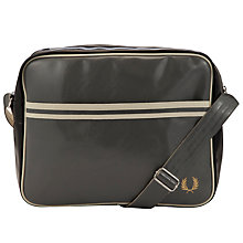 Buy Fred Perry Classic Shoulder Bag, Black/Grey Online at johnlewis.com