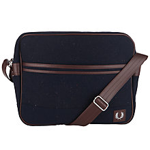 Buy Fred Perry Flecked Wool Blend Shoulder Bag, Navy Online at johnlewis.com