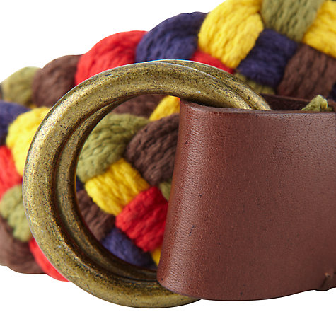 Buy Franklin & Marshall Plaited Belt Online at johnlewis.com