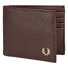 Buy Fred Perry Scotch Grain Billfold Wallet, Brown Online at johnlewis.com