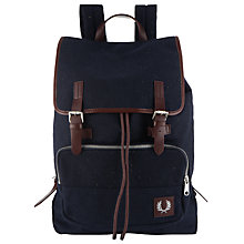 Buy Fred Perry Flecked Wool Backpack, Navy Online at johnlewis.com
