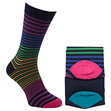 Buy Ted Baker Lilrich Striped Socks, 2 Pack Online at johnlewis.com