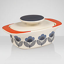 Buy Orla Kiely Poppy Meadow Butter Dish, Blue Multi Online at johnlewis.com